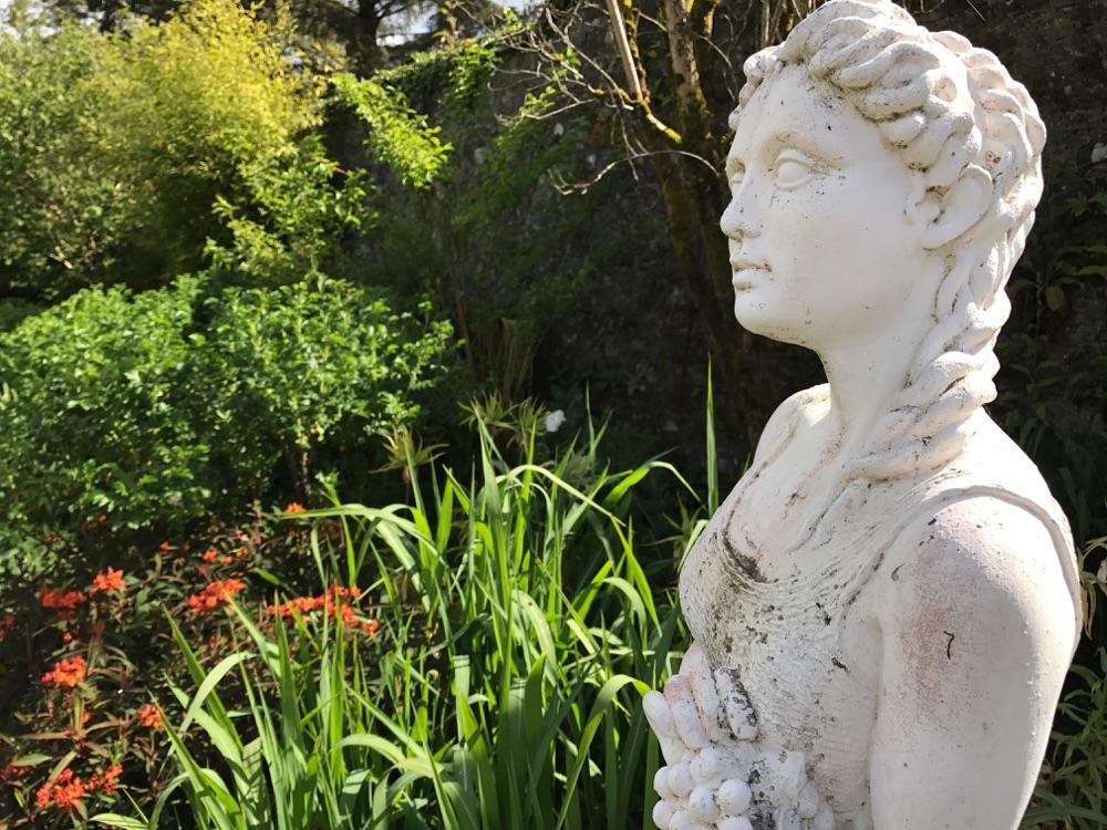 Statue Inside The Walled Garden At Belvedere House Dublin